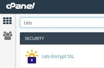 Lets Encrypt in cPanel GOODHost